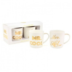 Mug Mr.Cool/Mrs.Hot - Juego de 2