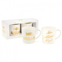 Mug Mr.Right/Mrs.Always Right - Juego de 2